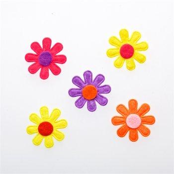 Текстильные дутые элементы цветок 28 мм