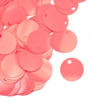 Паєтки для в'язання 40 гр рожеві матові