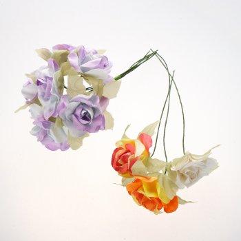 Штучні квіти. Троянди. Мікс кольорів