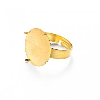 Основи для кілець. Золото. Діаметр 18 мм.
