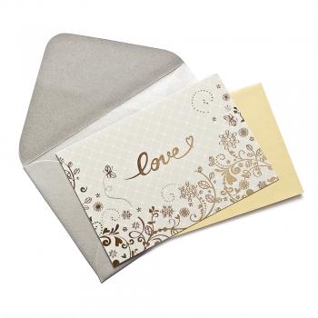 Листівка з конвертом Love