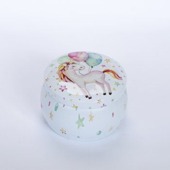 "Коробочка жестяная ""Dreamer Unicorn""7,4х5,2 см"