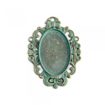 Основа для вклеивания камней малая бронза под старину