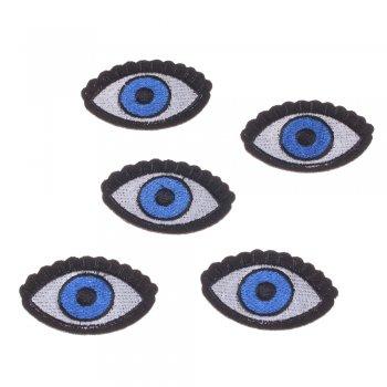 Тканевая  нашивка Голубой глаз