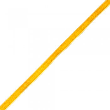 Лента бархатная, золотая, 10 мм