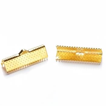 Затискачі для стрічок золото 20 мм