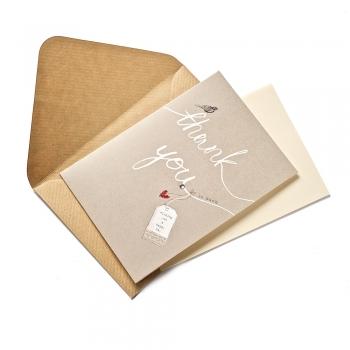 Открытка с конвертом  Thank you so mach