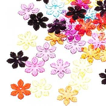 Пластиковые кристаллы звезды разноцветные