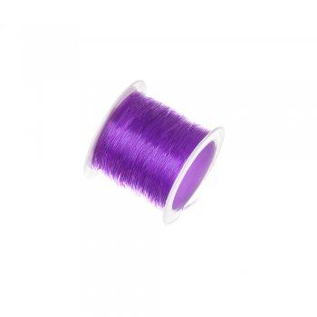 Резинка силиконовая толстая, фиолетовый, 0.8мм