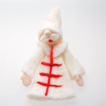 Декор новогодний из фетра дед мороз