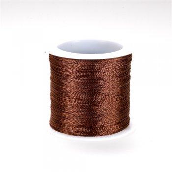 Нить капроновая под шелк, коричневая, 1м