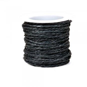 Шнуры бумажные плетеные черный