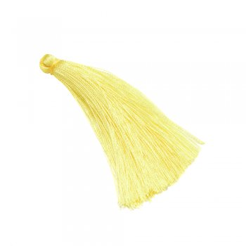 Текстильная кисточка желтая