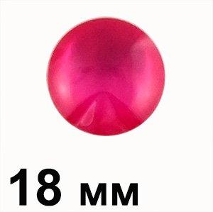 Пластикові кабошони червоний опуклий круг 18 мм