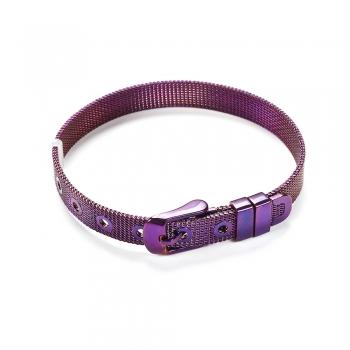 Браслет слайдер фиолетовый