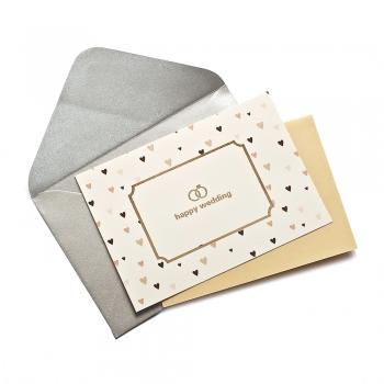 Открытка с конвертом Happy Wedding