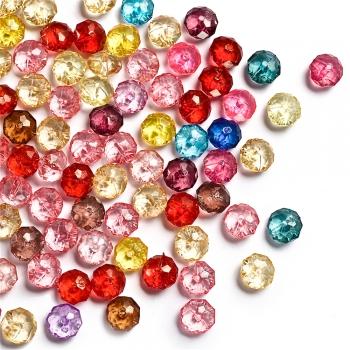 Пластиковые кристаллы, микс цветов, 10 мм