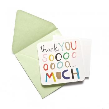 Листівка з конвертом Thank you so mach