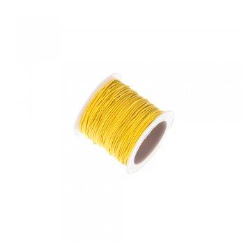 Шнур-резинка жёлтый полиэстер с эластаном 1 мм