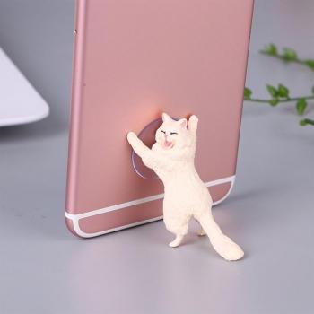 Держатель для телефона Кошачья поддержка Кот белый