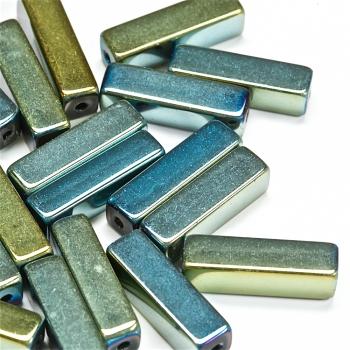 Бусина стеклянная зеленая бензольная