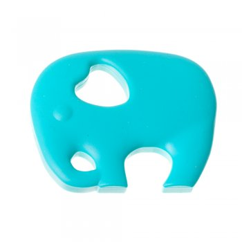 Підвіска силіконова бірюзовий слон 66 мм