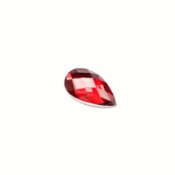 Стрази клейові пластикові 12х7 мм червоні уп. 15шт