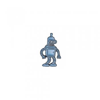 Значок пин Футурама робот Бендер
