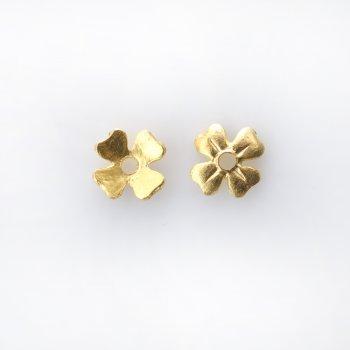 Металева фурнітура. Золото. Обіймач четирехпелюстковый. 8 мм