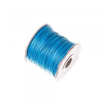 Плетёный шнур голубой, хлопок , 1 мм