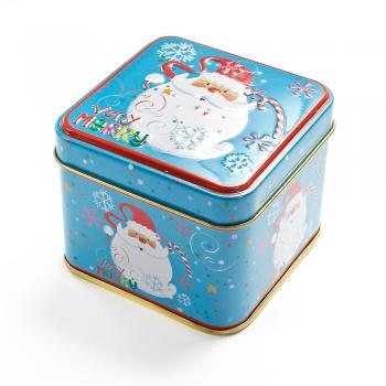Коробочка жестяная 7,5х7,5х6,5 см Санта Very Merry