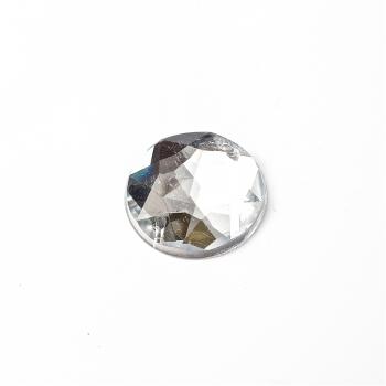 Стразы пластиковые пришивные. Прозрачный. Диаметр 14 мм.