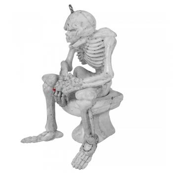 Пластиковая  подвеска Скелет с сигарой