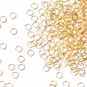 Біжутерні колечка золотий 4 мм