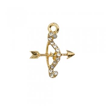 Металлическая подвеска с эмалью Лук золотой
