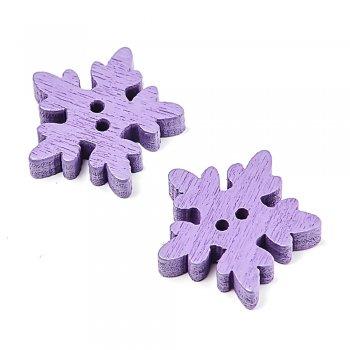Снежинки маленькие  фиолетовые.