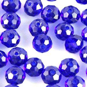 Хрустальные бусины синие