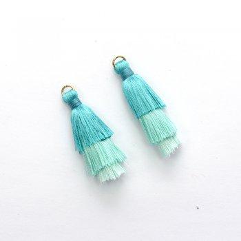 Текстильные кисточки бірюзові