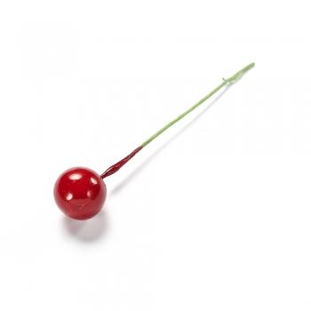 Декор червона ягода на дроті 10 мм