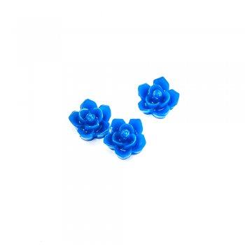 Пластиковые клеевые элементы. Цветок синий
