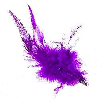Пір'яні елементи. Фіолетовий. Не вказаний розмір