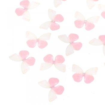 Шелковые бабочки розовый белый