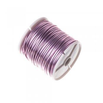 Шнур светло-розовый глянцевый кожзам 1,5 мм