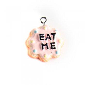 Тістечко Eat Me. Підвіски з полімерної глини мікс кольорів солодощі