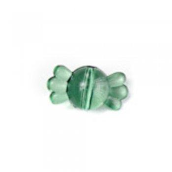 Пластиковые кристаллы оригинальные. Бусина-конфета зеленая маленькая