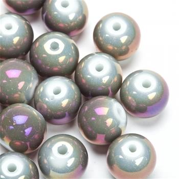 Бусина стеклянная фиолетовая бензольная