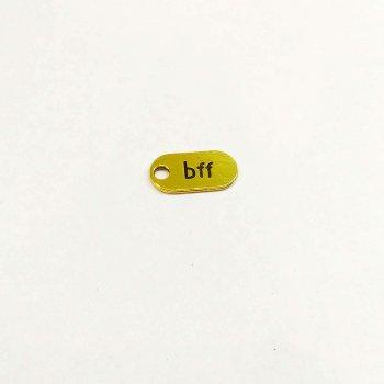 BFF. Металеві литі підвіски чорнене золото