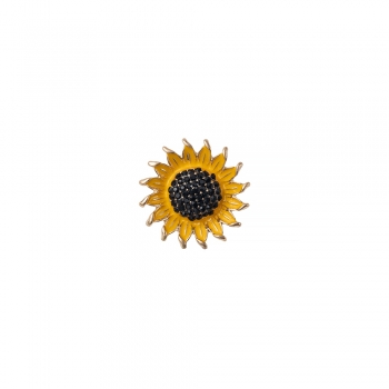 Намистина кнопка соняшник