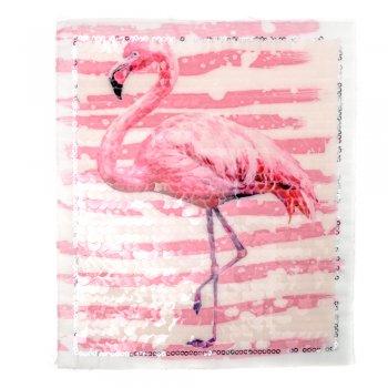 Тканевая нашивка Розовый фламинго