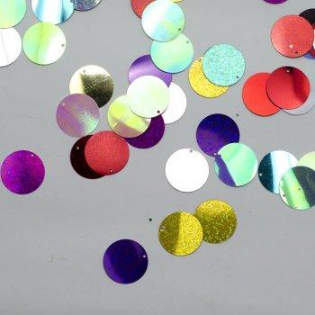 Паєтки мікс кольорів глянцеві